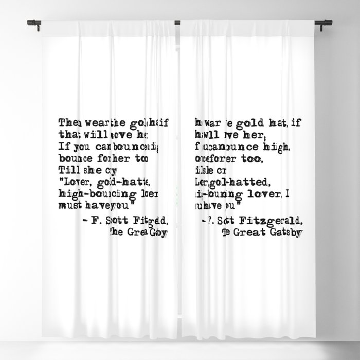 Epigraph - The Great Gatsby - Fitzgerald quote Blackout Curtain by quoteme