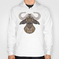 african Hoodies featuring African Buffalo by ArtLovePassion