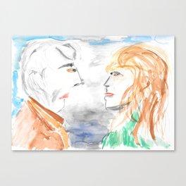 Inevitable meeting Canvas Print
