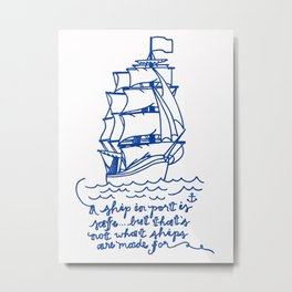 Set Sail Metal Print