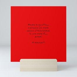 Turandot 3 red Mini Art Print