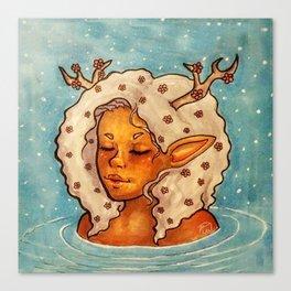 Dreamy dip Canvas Print
