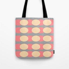 Modern Retro Style Spot Print Tote Bag