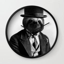Gentleman Sloth #2 Wall Clock