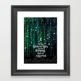 ACOMAF - Starfall Framed Art Print