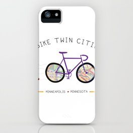 Twin Cities by I Bike iPhone Case