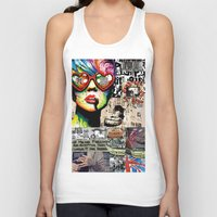 punk rock Tank Tops featuring Punk Rock poster by Mira C