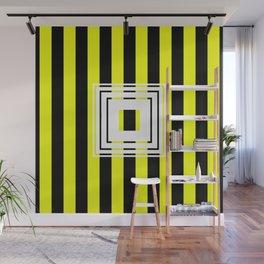 Bumblebee Box - Geometric, bold, yellow and black striped design Wall Mural