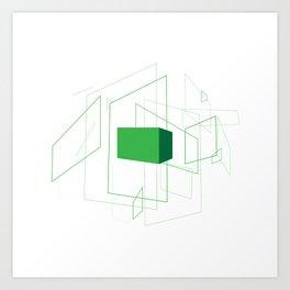 Blueprint #1 (green) Art Print