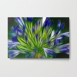 Painted blue Metal Print