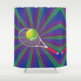 Tennis Ball and Racket Shower Curtain