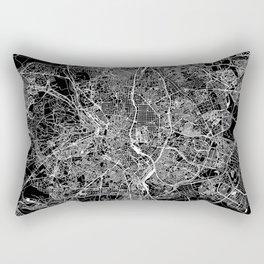 Madrid Black Map Rectangular Pillow