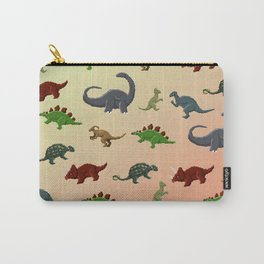 Herbivorous Dinosaurs Pixel Pattern Carry-All Pouch