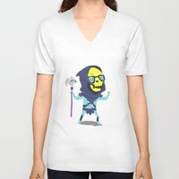 skeletor V-neck T-shirts featuring Skeletor by Rod Perich