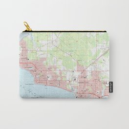 Vintage Map of Panama City Florida (1956) Carry-All Pouch