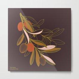 Olive branch Metal Print