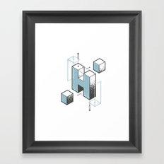 The Exploded Alphabet / H Framed Art Print