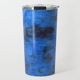 Bright navy blue abstract watercolor Travel Mug