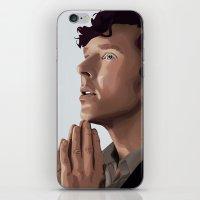 sherlock holmes iPhone & iPod Skins featuring sherlock holmes by elyinspira