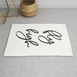 Fly High | Motivational Inspirational Typography Rug