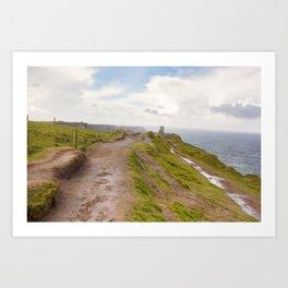 Ireland Coastal Castle  Art Print
