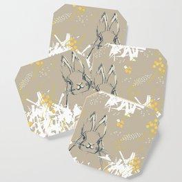 Bunny Portrait M+M Latte by Friztin Coaster