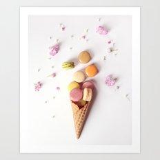 Macaron Cone Art Print
