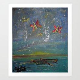 Fly Bottles, I'm Sailing Art Print