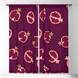 Pomegranate Pattern Blackout Curtain