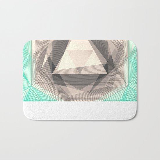 Jewel Lines 2 - Jade & Charcoal Bath Mat