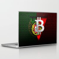 portugal Laptop & iPad Skins featuring bitcoin Portugal by seb mcnulty