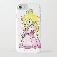 princess peach iPhone & iPod Cases featuring Princess Peach by Olechka