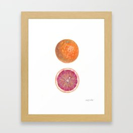 Blood Orange with Cut Half Framed Art Print