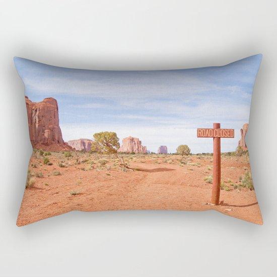 Road closed desert Rectangular Pillow