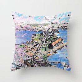 Garden Island, from Onslow Gardens Throw Pillow