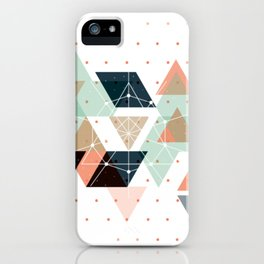 Midcentury geometric abstract nr 011 iPhone Case