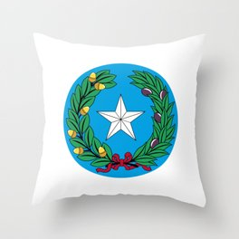 Coat of arms of the Republic of Texas Throw Pillow