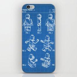 Legos Patent - Block Man Art - Blueprint iPhone Skin
