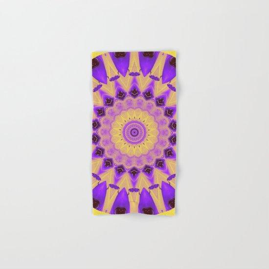 Bold Purple and Yellow Mandala Hand & Bath Towel