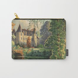 Vintage French Chateau Carry-All Pouch