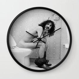 Frank Zappa Toilet Poster Zappa ON DA CRAPPA Wall Clock