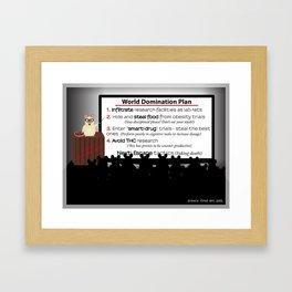 Lab Rat World Domination Framed Art Print