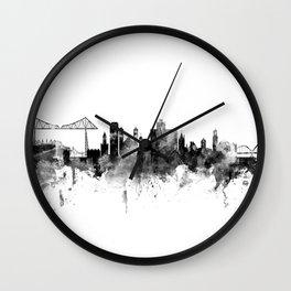 Middlesbrough England Skyline Wall Clock