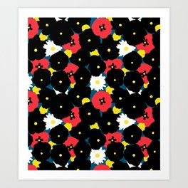 Minimalist Autumn Floral Art Print