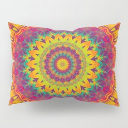 Mandala 073 (Neon) Pillow Sham