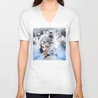 arctic monkeys V-neck T-shirts featuring Arctic Tears by Fresh Doodle - JP Valderrama