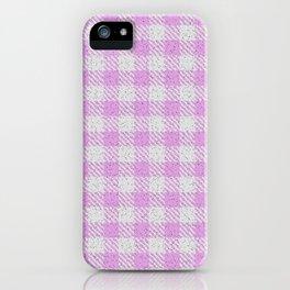 Plum Buffalo Plaid iPhone Case