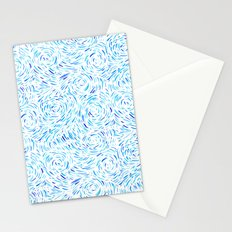 Dashed Waves Stationery Cards