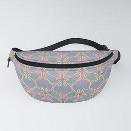 Leafy lavender Nouveau stripe Fanny Pack