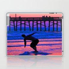 Neon Skimboarder Laptop & iPad Skin